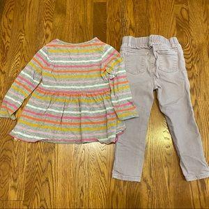 GAP lavender stripe outfit